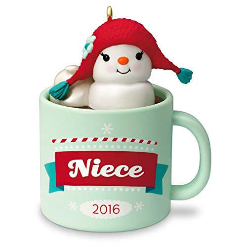 Hallmark Niece Hot Cocoa Mug And Marshmallow Snowman Ornament Family