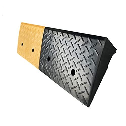 FYZS bordsteinrampe Spur Rampen, Bordsteingang Gangway Tragbare Licht Hochleistungs-Kunststoffschwellenrampe für die Einfahrt, Ladedock, Bürgersteig, Auto, Roller, Fahrrad, Motorrad, schwarz + gelb