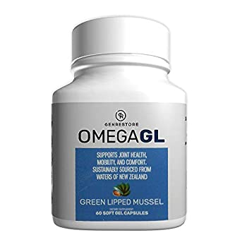 Omega GL Dietary Supplement - Green Lipid Mussel Blend – Sustainably sourced from Water of New Zealand for Arthritis Care and Joint Health Anti-Inflammatory – 60 Soft Gel Capsules
