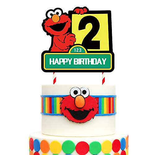 1 Elmo Cake Topper 2nd Birthday Cake Decorations for Birthday Party