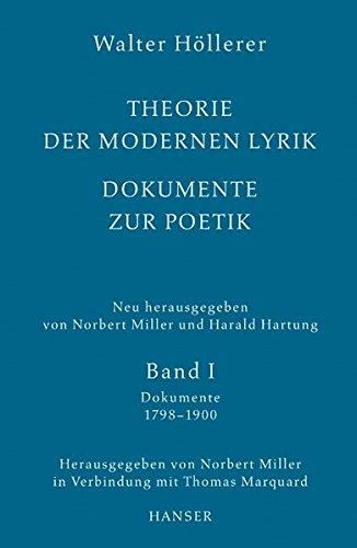 Theorie der modernen Lyrik: Schriftenreihe der Deutschen Akademie für Sprache und Dichtung, Band 17/18