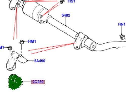 Land Range Rover Sport LR3 LR4 Sway Bar Bushing FRONT Stabilizer Genuine OEM X2