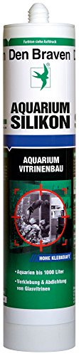 De Braven CSS33A105001 Aquarium Siliconen CSS33A105001, transparant, bestand tegen zoet en zeewater, hoge elasticiteit, aquariumsilicone Made in Europe