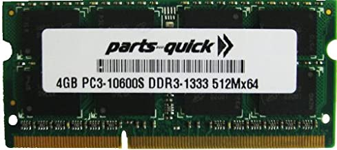 4GB DDR3 Memory Upgrade for Lenovo ThinkPad T500 Notebook Series PC3-10600 204 pin 1333MHz Laptop SODIMM RAM (PARTS-QUICK BRAND)