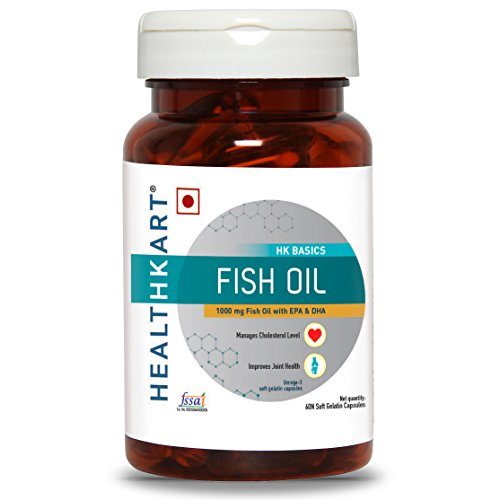 HealthKart Fish oil (1000 Omega 3, with 180 mg EPA...
