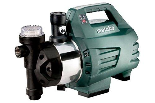 Metabo 600979000 Hauswasserautomat / Hauswasserwerk HWAI 4500 INOX | +Gewindedichtband, Filterschlüssel | Kompakt / Trockenlaufschutz (1300 W | Fördermenge 4500 l/h | 4.8 bar)