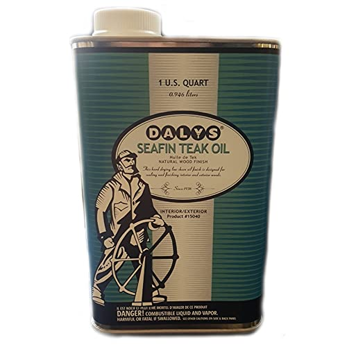 DALY'S WOOD FINISHING PRODUCTS Seafin Teak Oil, 1 Quart, Clear, Quart