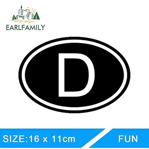 BJDKF 16cm X 11cm Auto Styling Duitsland Land Code Ovale Auto Stickers Vinyl Decoratieve Kunsten Auto Stickers Grafische Blauw