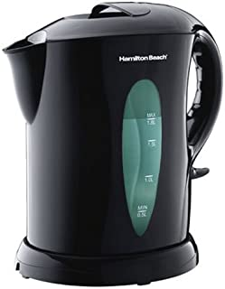 Hamilton Beach 1.8 Liter Electric Kettle for Tea and Water, Cordless, Auto-Shutoff and Boil-Dry Protection, Black (K6080)