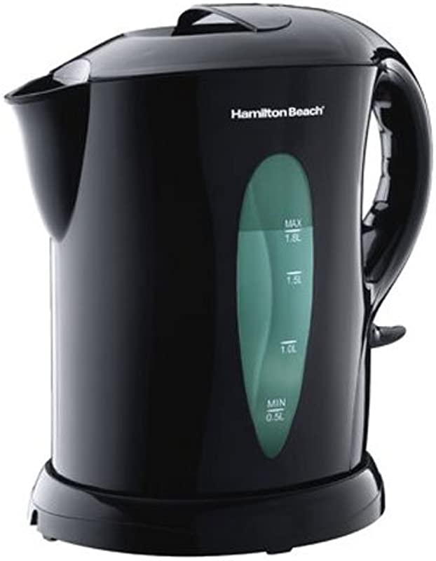 Hamilton Beach 1 8 Liter Electric Kettle For Tea And Water Cordless Auto Shutoff And Boil Dry Protection Black K6080