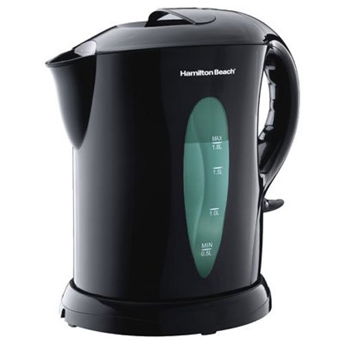 Hamilton Beach Electric Tea Kettle, Water Boiler & Heater, 1.8 L, Cordless, Auto-Shutoff & Boil-Dry Protection, Black (K6080)