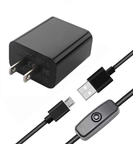 Vemico Raspberry Pi 3b+電源 5V 3A AC アダプター ラズベリーパイ3b+ 電源アダプター スイッチ付き Raspberry Pi 3 Model b+適用(Raspberry Pi 3、Pi 2、タブレット、スマホにも対応可能)