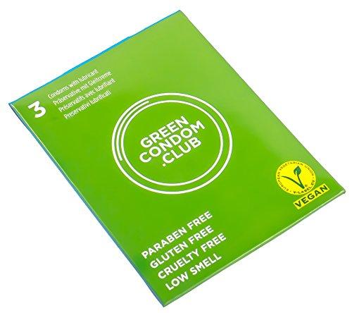 Green Condom Club Preservativos Veganos 3Ud 100 g