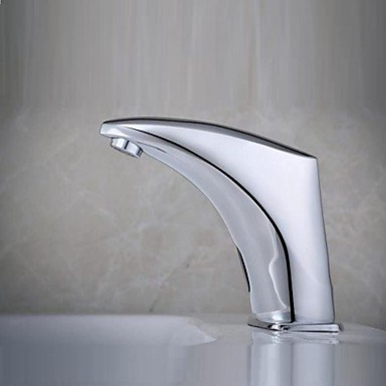 Bathroom Sink Faucet - Sensor Chrome Hands Free One HoleBath Taps