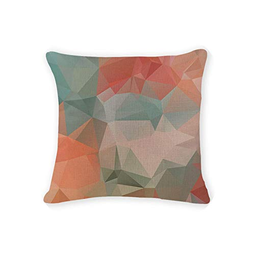 Decor Pillowcase | Gift Cushion Cover Patchwork Geometry Watercolor Love Pillowcases Sofa Seat Rectangle Burlap Home Office Furniture Cushion Cover
