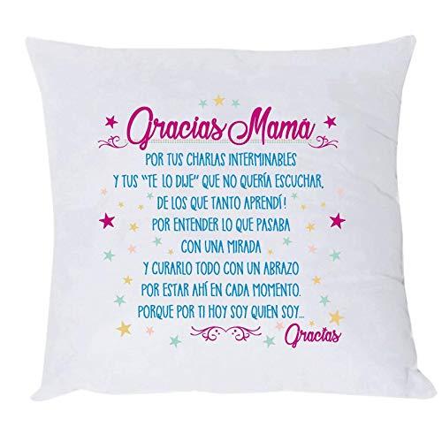 MISORPRESA COJIN Mensaje Gracias Mama Regalo Madre COJIN Frase Madre