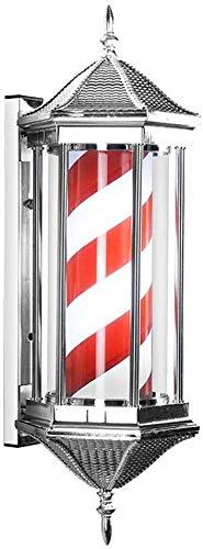 Professionnel Retro coiffure Lumière, coupe de cheveux Pôle Lumière, Led Barber Shop Turn Wall Lamp Hair Salon Tourner la lumière Hair Salon étanche Gyrophare Box (Couleur: C) (Color : A)