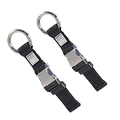 2PCS Heavy Duty Add a Bag Luggage Strap Jacket Gripper,Carry-on Baggage Suitcase Straps Belts Travel Accessories (Black)