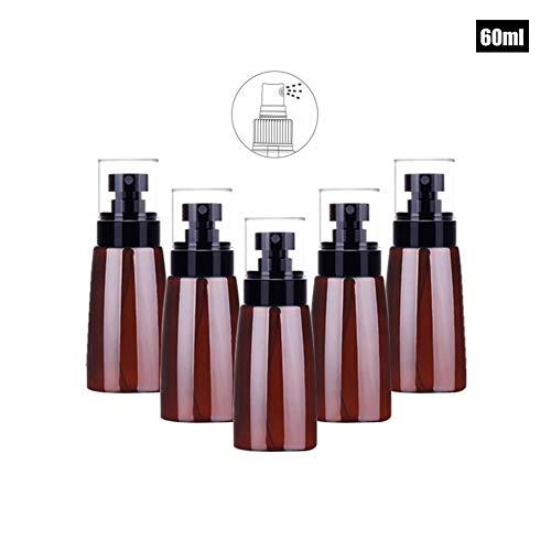 Ssowun 5 Pièces Flacon Pulvérisateur, Portable Bouteille de Voyage Vide Flacon Plastique Parfum Réutilisables pour Parfum Cosmétique Liquide 30ml/50ml/60ml/80ml/100ml