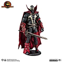 """Incredibly detailed 7"""" scale figures based off the Mortal Kombat Franchise Spawn is featured in his Default skin as seen in Mortal Kombat 11 Kombat Pack DLC releasing March 17th Designed with Ultra Articulation with up to 22 moving parts for full ran..."""