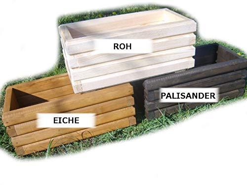 Nouveau bac à fleurs en bois tOP pot de fleurs pour jardin et terrasse montée d2 chêne 80 cm