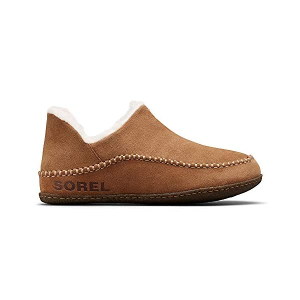 Sorel – Men's Manawan II House Slippers with Suede Upper and Wool/Polyester Lining, Elk, Natural, 14 M US