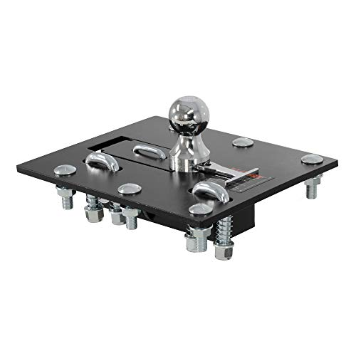 CURT 61052 Over-Bed Folding Ball Gooseneck Hitch, 30,000 lbs, 2-5/16-Inch Ball