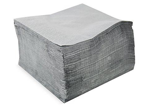 Saten ser42207311Collection, tovagliolo 40x 40, 2strati, piegati a 1/4, 100Tovaglioli, 2strati Lisa con bordo, grigio Etain
