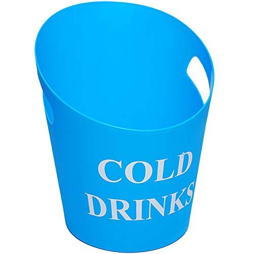 alles-meine.de GmbH großer XL - Eiseimer / Getränkekühler - Cold Drinks - BLAU - türkis - 33 cm - 9 Liter - aus Kunststoff / Plastik - Sektkühler - Flaschenkühler - Weinkühler - ..