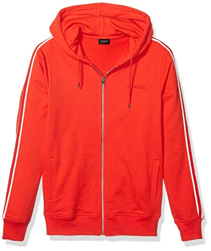Diesel Herren Brandon-Z Zip UP Hoodie Pyjama-Oberteil (Top), Feuerrot, X-Small