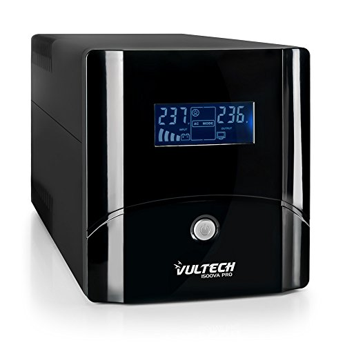 VulTech UPS1500VA-PRO Line Interactive Gruppo di Continuità con LCD,...