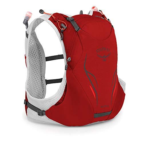 Osprey Duro 6 unisex Laufrucksack mit zwei Hydraulics™ 500-ml-Softflaschen - Phoenix Red (M/L)