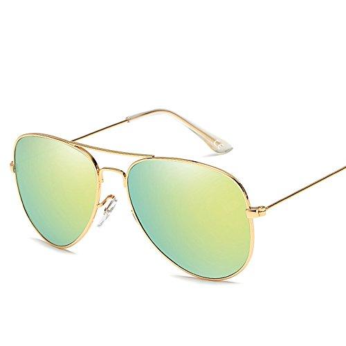 VeBrellen Uomini /Donne Occhiali Da Sole Polarizzati Di Alluminio In Lega Di Magnesio AS001 (Gold Frame Gold Lens)