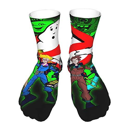 AsakawaKoutarou Mochilas De Los Cazafantasmas Moda Unisex Estampado Algodón Transpirable Deporte Casual Socks Calcetines Long Calcetines Thick Calcetines