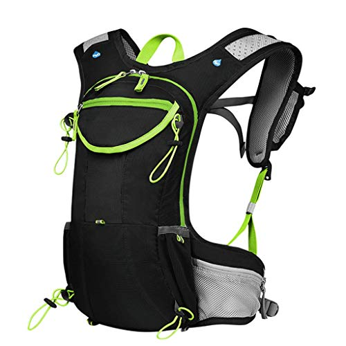 GAOFQ Outdoor Backpack Riding Water Bag Bag Running Bag Mountain Bike Sports Hiking Mountaineering Waterproof Breathable Shoulder Water Bag Bag 8L-with Headscarf + Survival Whistle