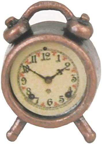 TXXM Toy 1/12 Dollhouse Miniatura Sala de estar Vintage Metal Reloj Despertador
