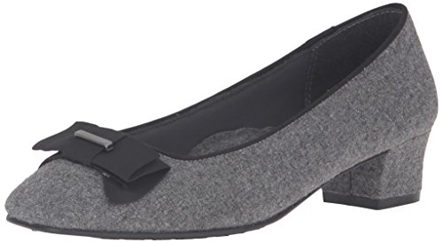Soft Style by Hush Puppies Women's Sharyl Dress Pump, Grey Flannel, 9.5 N US