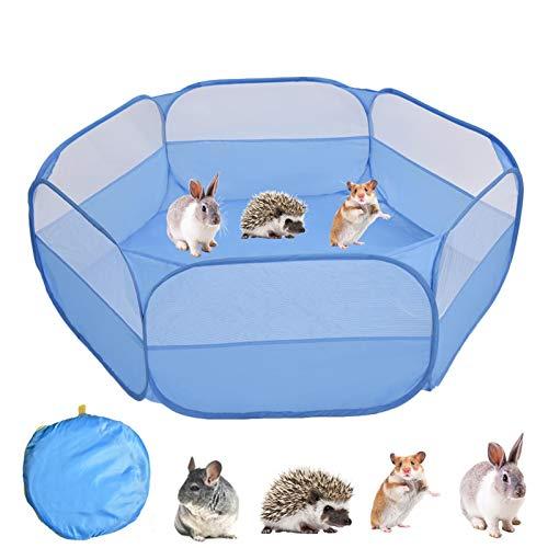 LKR Parque de juegos para hámster portátil, impermeable, transpirable, para animales pequeños, interior y exterior, para conejos, ardillas, gatitos, chinchilla