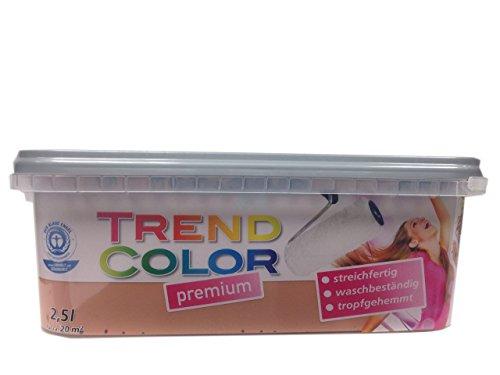 Meffert Trend Color Premium Matte Innen - Dispersionsfarbe Farbton wählbar 2,5 Liter, Farbe:Mandel