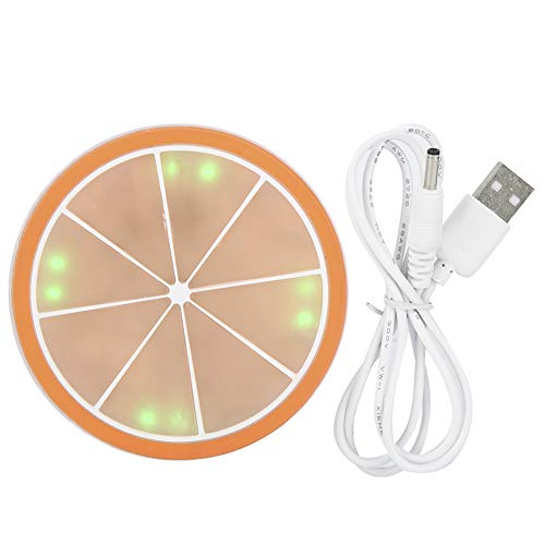 Estera de Taza de iluminación LED Tapete de Taza Ecológico para familias para Fiestas(Orange)