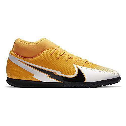 Nike Superfly 7 Club IC, Botas de fútbol Hombre, Láser de Color Naranja, Negro y Blanco, 46 EU