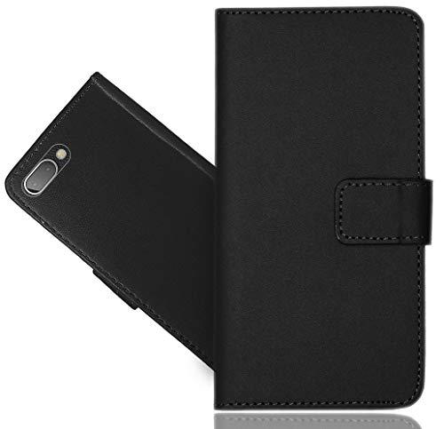 BlackBerry Key 2 / Key Two Handy Tasche, FoneExpert® Schwarz Wallet Hülle Flip Cover Hüllen Etui Hülle Ledertasche Lederhülle Schutzhülle Für BlackBerry Key 2 / Key Two