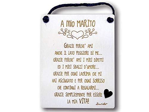 Dacl'Art Targa in Legno Marito Grazie tg-mar-01...