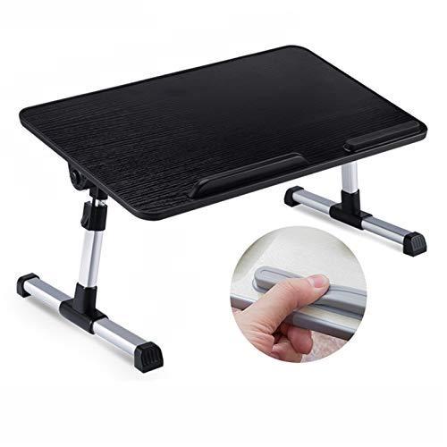 Estaciones de trabajo informáticas Soporte de escritorio de la vuelta Ángulo de altura ajustable para laptop de mesa de bandeja de la mesa de desayuno Cama Sirviendo bandeja de la bandeja de la cama d