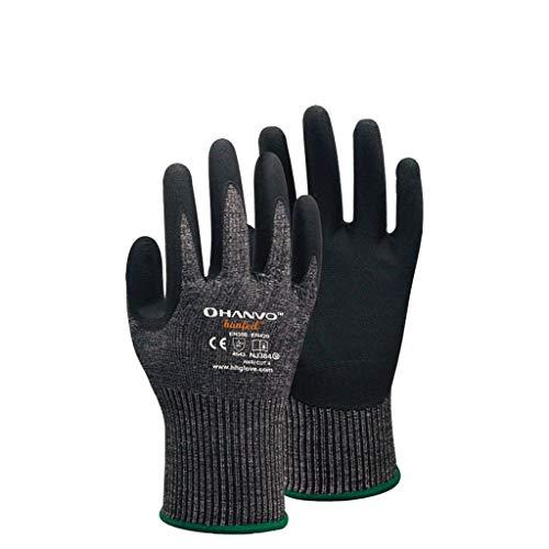 zhangmeiren Schnittfeste, Stichsichere Handschuhe, Feine Verarbeitung, Schneiden, Metallglas, Gartenarbeit, Arbeitsversicherung (Size : Medium)