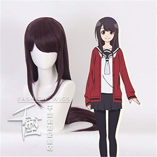 Anime Senryu Girl Yukishiro Nanako Cosplay disfraz peluca pelo sinttico prpura oscuro Yukishiro Nanako Halloween carnaval pelucas Kuqx0041