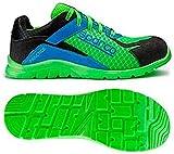 Sparco 0751740VFAZ Zapatillas, Verde/Azul, 40