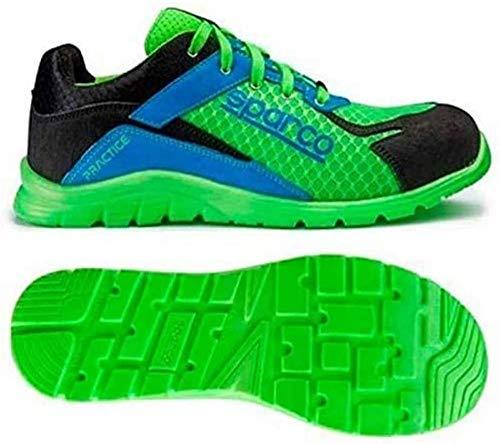 Sparco 0751740VFAZ Zapatillas, Verde/Azul, 40 🔥