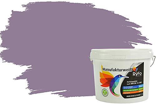 RyFo Colors Bunte Wandfarbe Manufakturweiß Blasslila 3l - weitere Violett Farbtöne und Größen erhältlich, Deckkraft Klasse 1, Nassabrieb Klasse 1