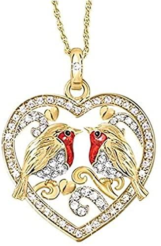 TTDAltd Collar Collar De Moda Popular Diseño Creativo Gorrión Pájaro Animal Collar Colgante Feminidad Romántica Boda Encanto Joyería Regalo